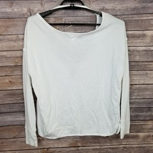 Sweaty Betty White Long Sleeve Open Back Sweater S